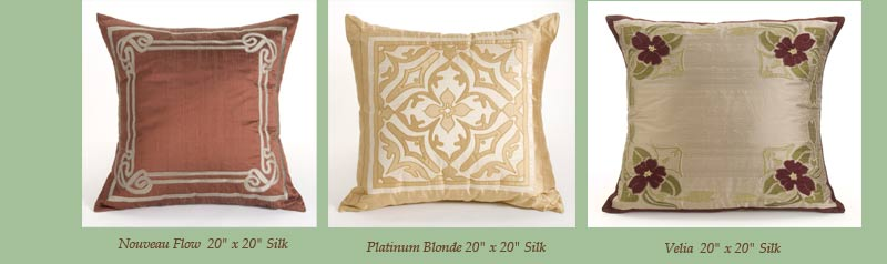 Wende Cragg Silk Pillows